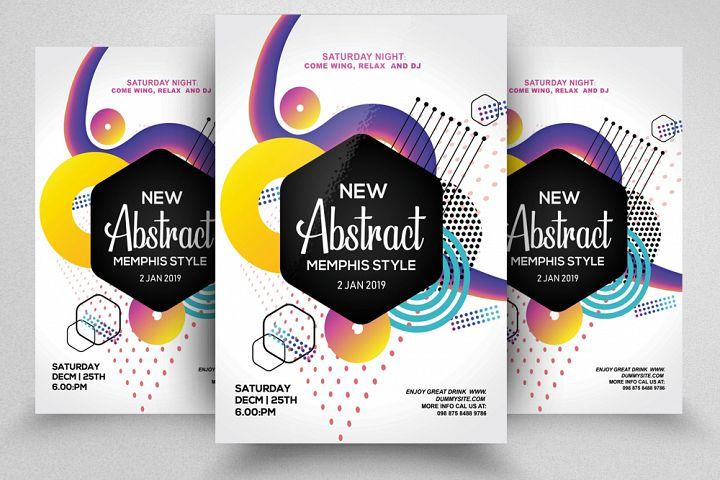 Abstract Electro Flyer Template