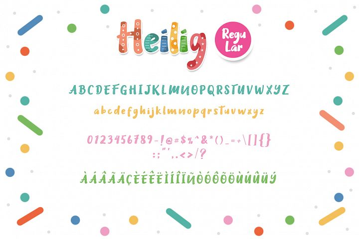 Heilig Display 3 Font example 3
