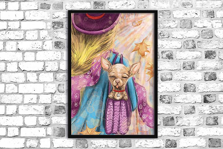 Chihuahua print,Printable illustration, Digital