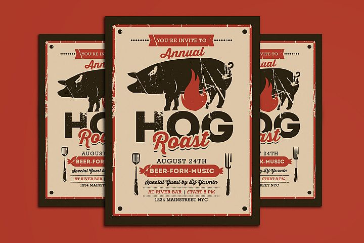 Pig Roast Event Flyer