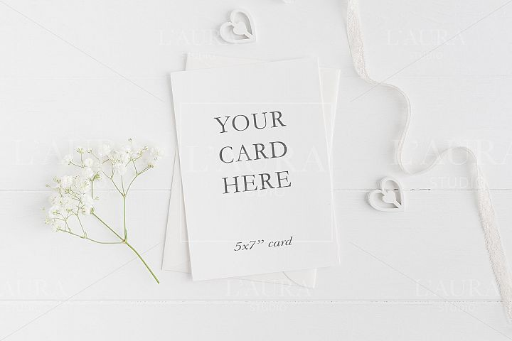 Wedding 5x7 Card Mockup - crd214