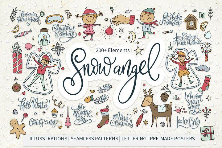 Snow Angel. Big Christmas Pack.