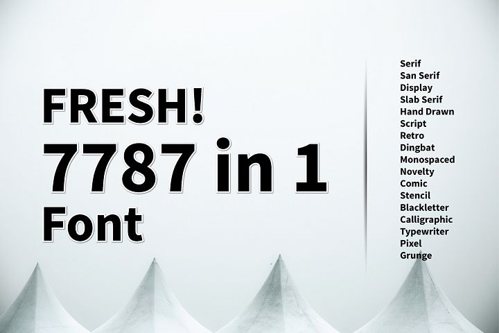 Fresh! 7787 in 1 Font Include PREMIUM Font!