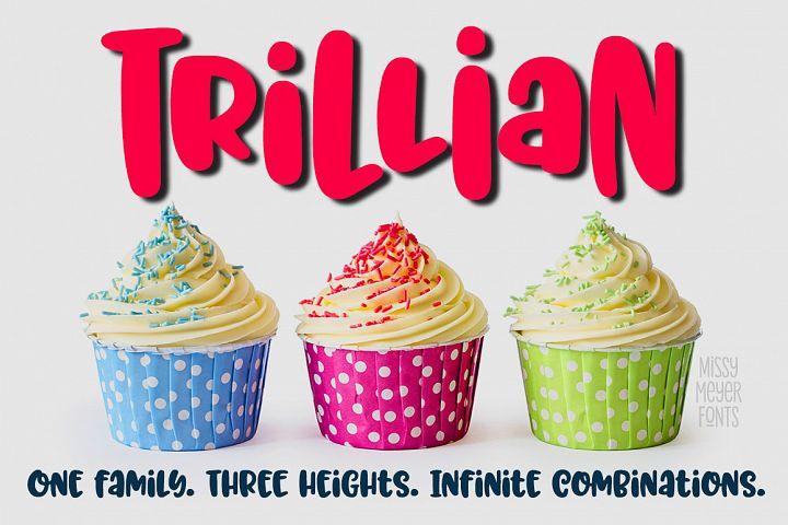 Trillian - 1 fun font, 3 heights!