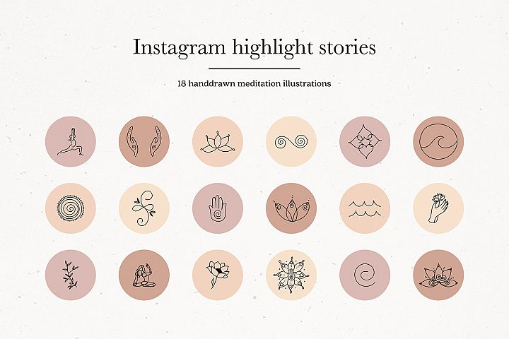 Instagram Meditation Yoga Story Highlights Icons Covers