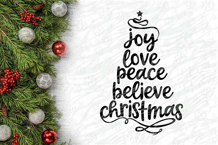 Joy Love Peace Believe Christmas Christmas Printable