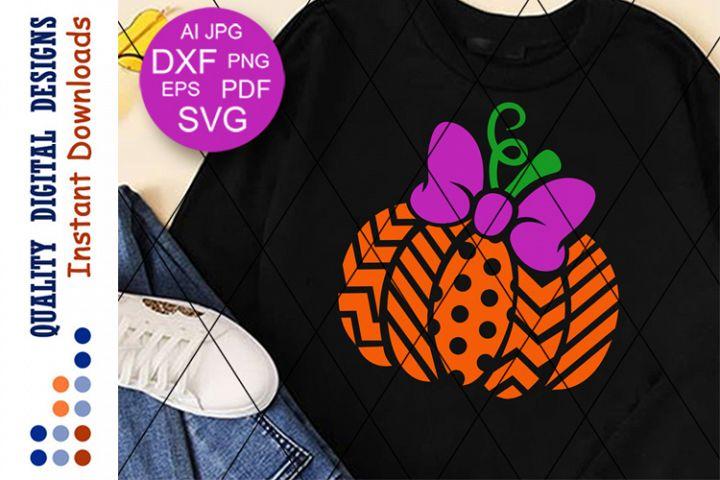Bow Pumpkin spice svg Halloween decor Girls fall