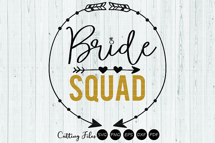 Bride Squad clipart | SVG cut file | 300 PPI
