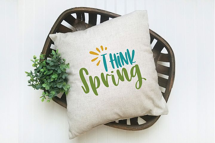 Think Spring SVG Cut File - Spring SVG DXF EPS PNG JPG AI example 4