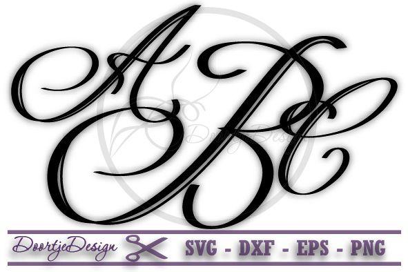 Monogram Letters, Monogram font SVG