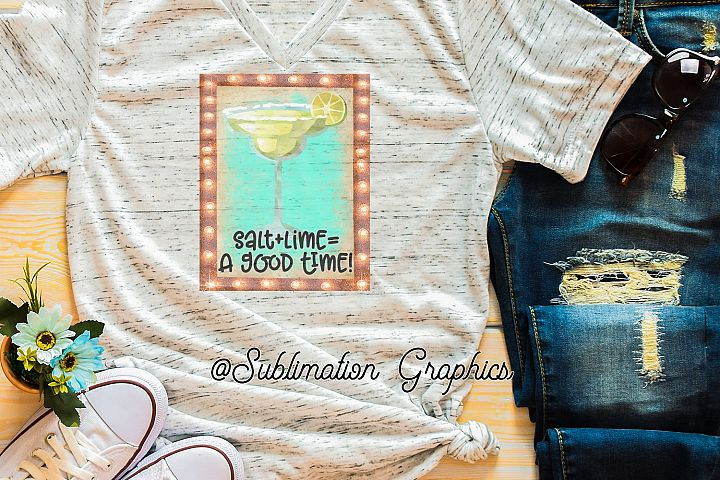 Salt plus Lime Sublimation Digital Download