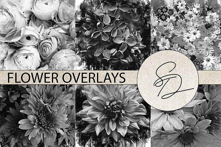 Painted Flowers Texture Overlays