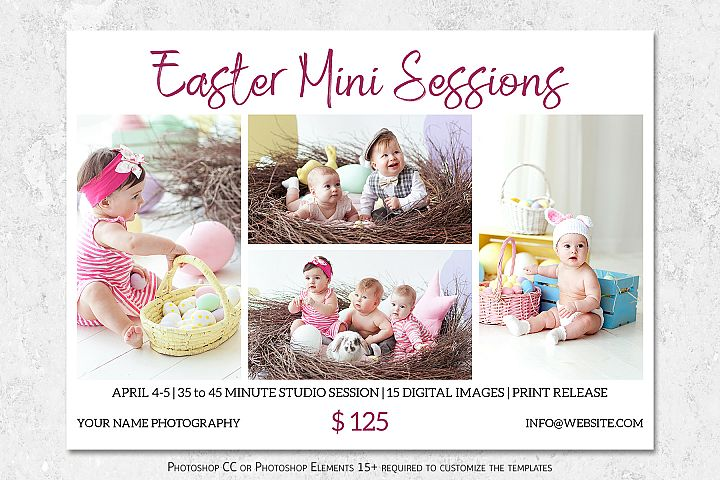 Easter Mini Session Template | Photography Marketing