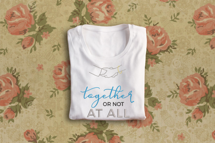 Together or Not at All Embroidery Design