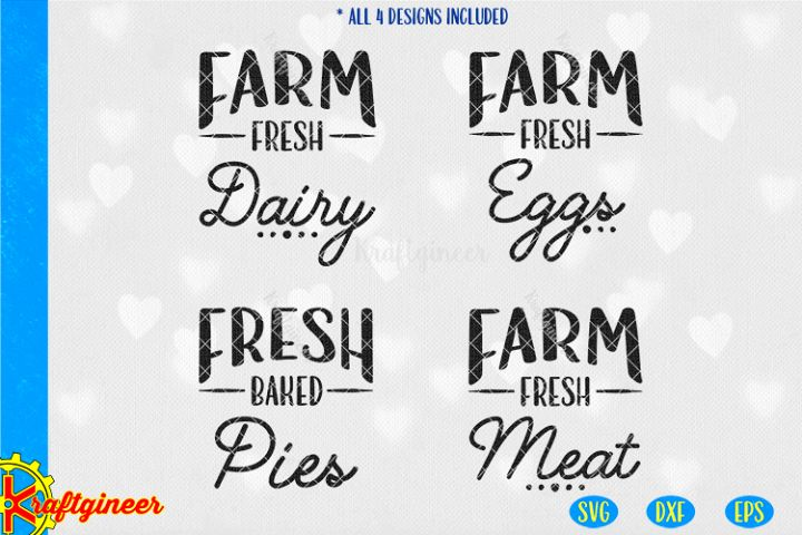 Farm Fresh Collection SVG | Farmhouse SVG