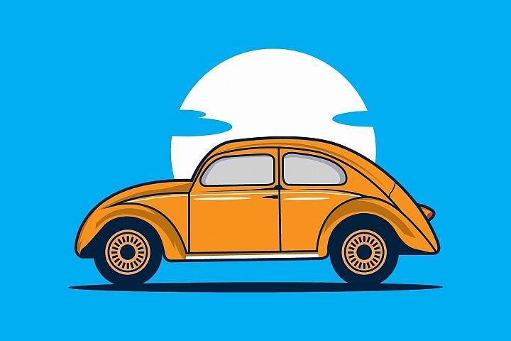 Volkswagen Beetle design template