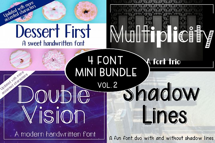 4 Font Mini Bundle - Volume 2