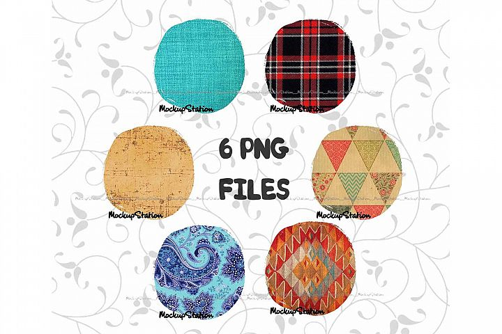 Sublimation Circle Background PNG Bundle, Frame Clip Art
