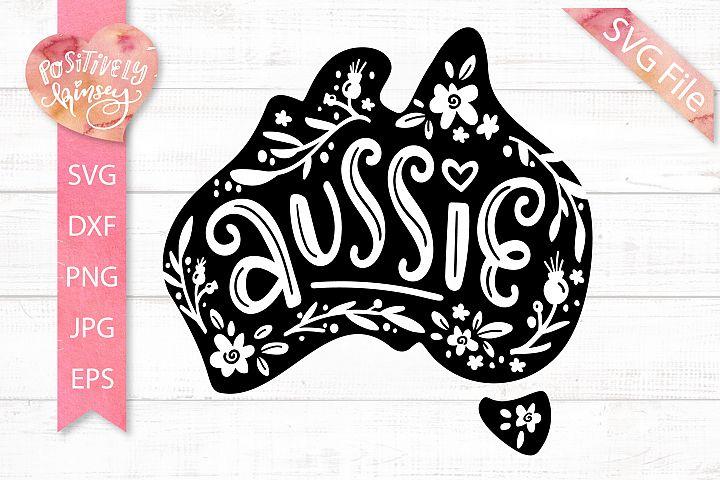 Aussie SVG File, Australia SVG, Australia Map, DXF, PNG