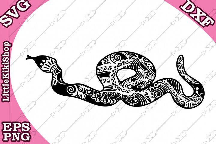Snake Svg ,Mandala Snake Svg,Zentangle Snake Svg,Cricut Cut