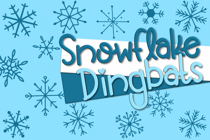 Snowflake Dingbats | A Font with Snowflake and Star Dingbats