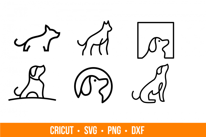 Dog Bundle SVG and PNG cutting files, Clipart