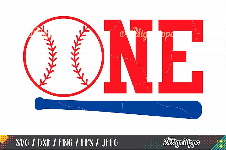 One Baseball, First Birthday SVG DXF PNG EPS Cutting Files