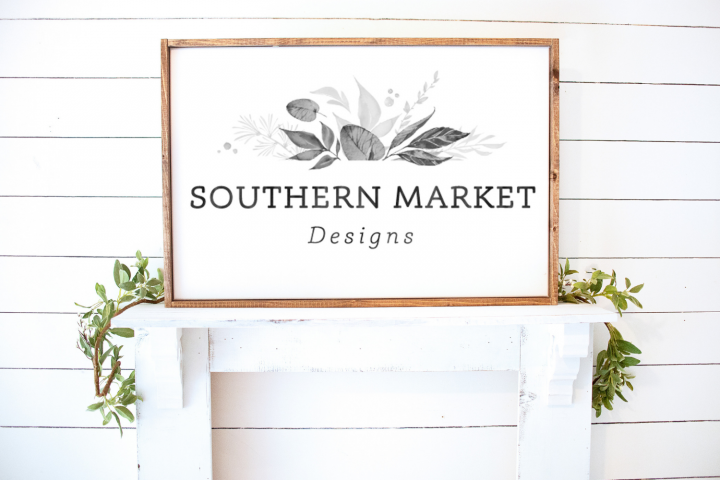 Real Wood 24x36 Sign Mock Up | Large Blank Wood Sign |