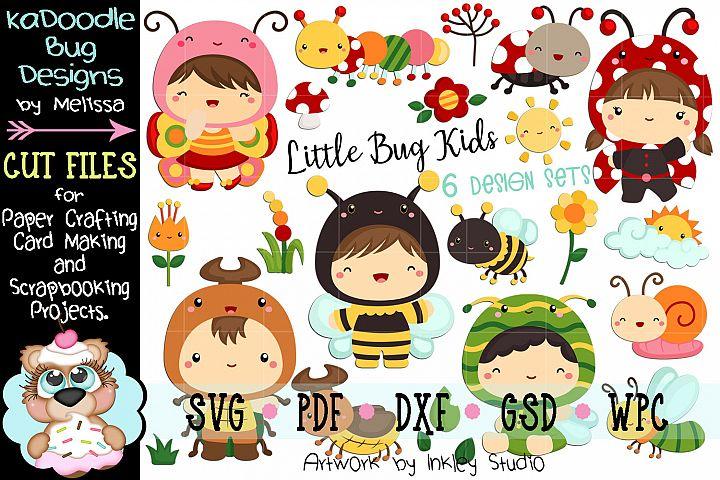 Little Bug Kids- 6 Cut File Designs - 21Pieces