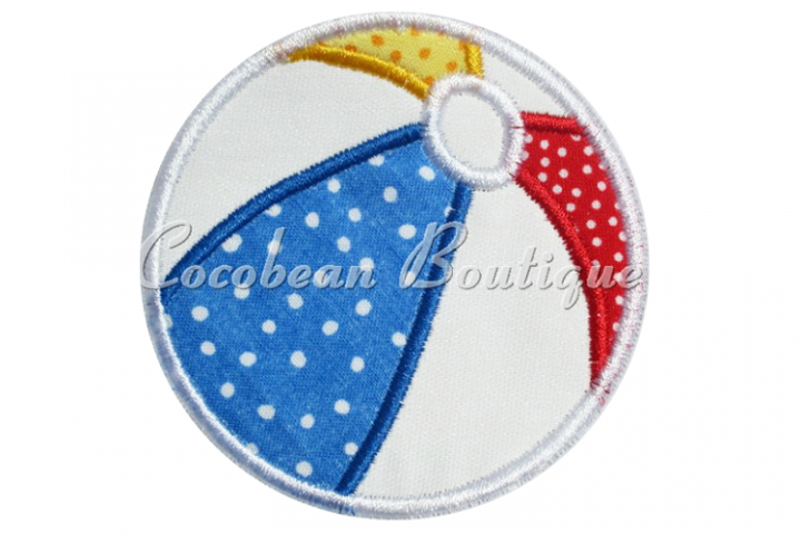 Beach Ball Applique Embroidery
