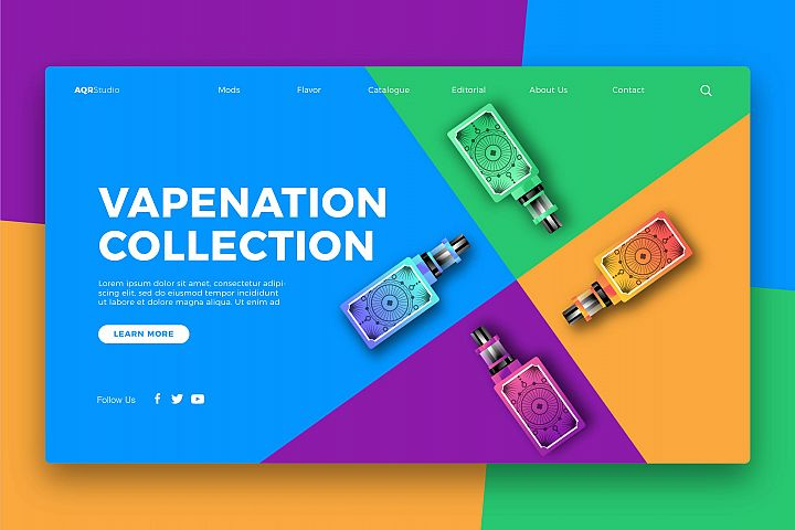 Vapenation Collection - Banner & Landing Page