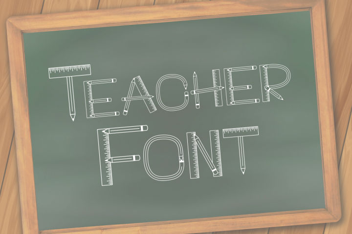Teacher Monogram Font