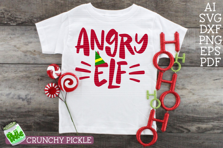 Angry Elf Christmas SVG