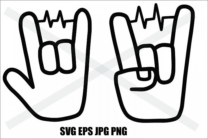 Two Hand with Beat- SVG-EPS-JPG-PNG