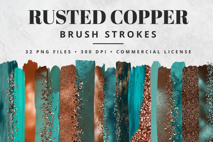 Rusted Copper Brush Strokes