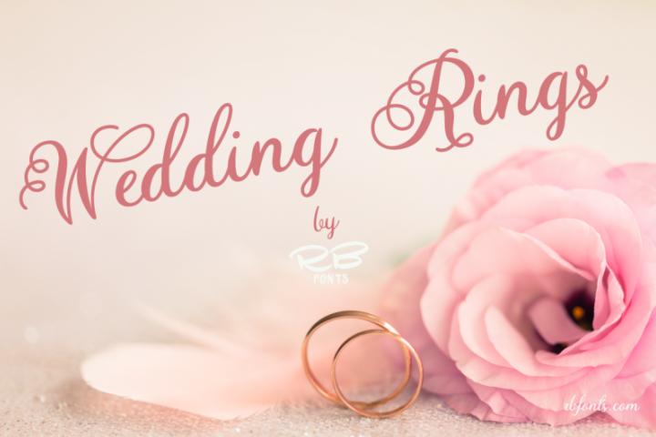 Wedding Rings font