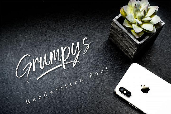 Grumpys - Brush Font