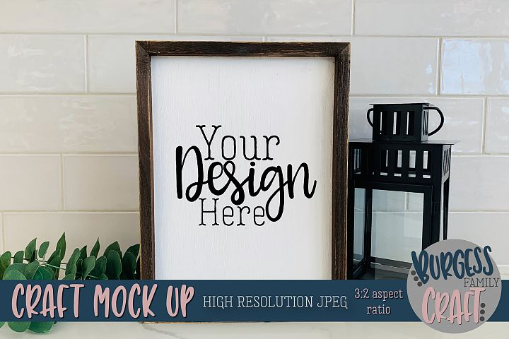 Rustic wood sign portrait Craft mock up |High Res JPEG