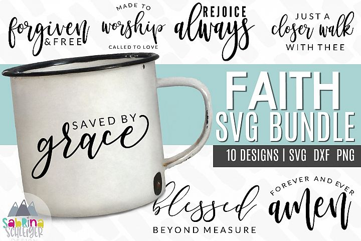 Faith SVG Cut File Bundle