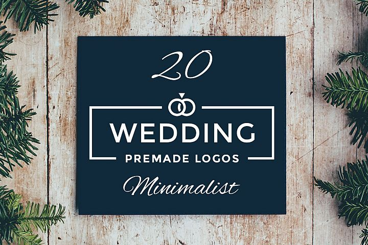 20 Minimalist Wedding Logos