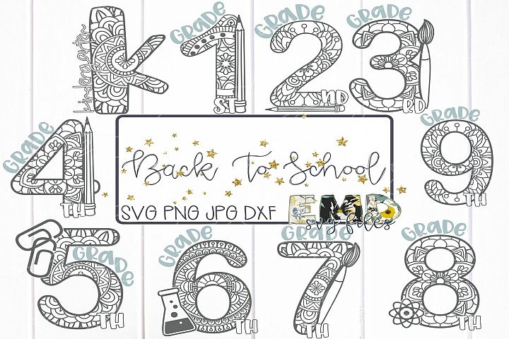 Back To School Mandala Svg File Bundle