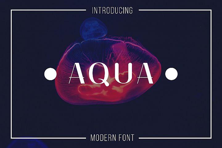 Aqua Serif Font
