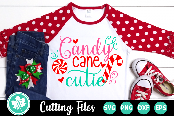 Candy Cane Cutie - A Christmas SVG Cut File
