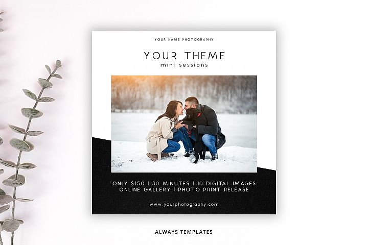 Photography Mini Session Template PM042
