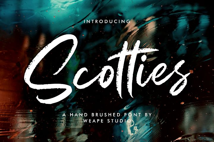 Scotties - Hand Brushed Font