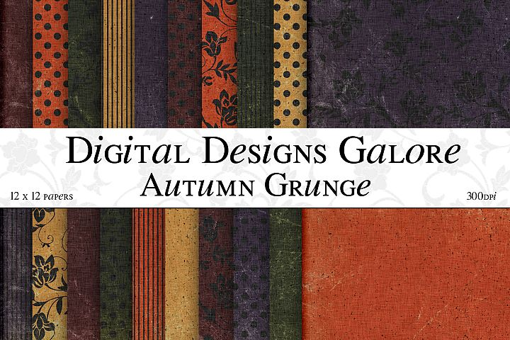 Autumn Grunge Digital Paper Pack