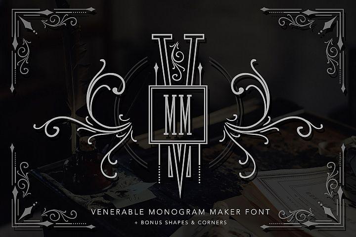 Venerable Monogram Maker Font