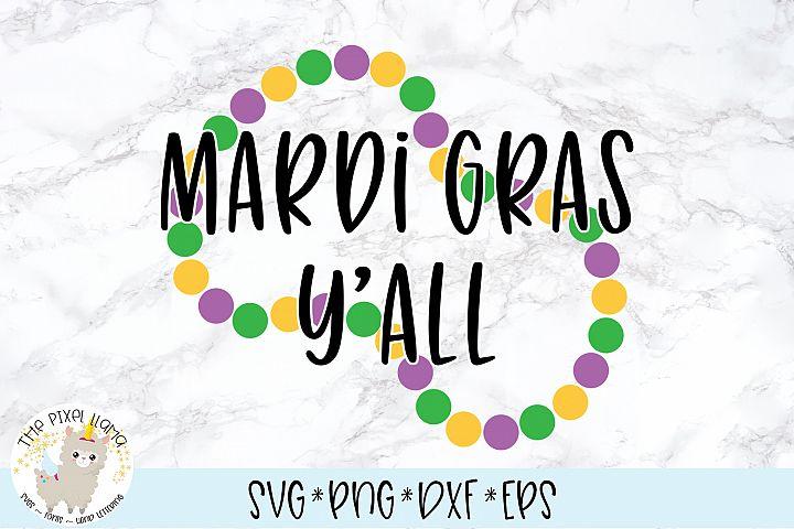 Mardi Gras YAll SVG Cut File