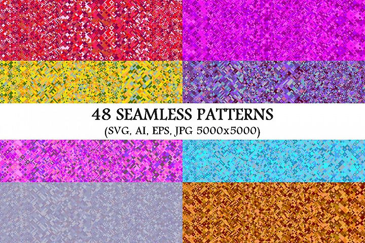 48 Seamless Geometrical Patterns