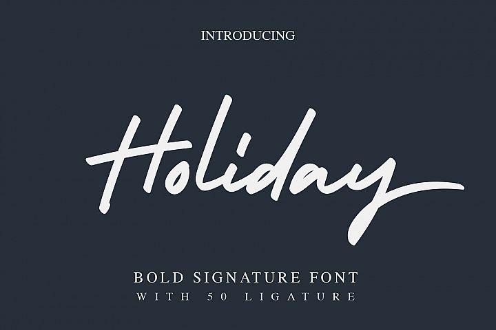 Holiday - Bold Signature Font